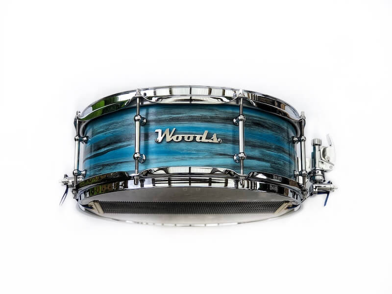 unique finish custom snare drum
