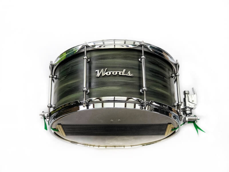 green camo swirl snare drum